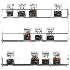 Herb And Spice Wall Chart Vonshef 3 Tier Spice Rack Chrome Plated Easy Fix For Herbs
