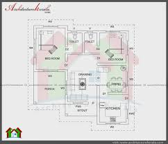 east facing two bedroom house plan plans story 1000 sq ft 3 kerala style 5e85e87e7a45213072c95215e