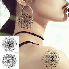 Vankirs сексуальная хна цветок временная женские татуировки стикеры мандала флора
