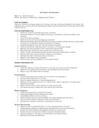Retail Job Description Resume Resume Description For Cashier 83
