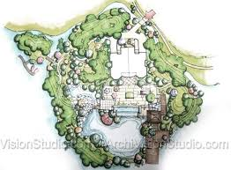 Small Picture Grand scale garden design with privacy berms and a small island