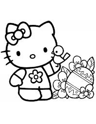 Disegno Di Hello Kitty Pasqua Da Colorare Per Bambini