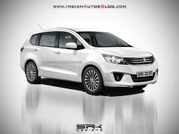 2018 suzuki ertiga. beautiful ertiga 2018 maruti ertiga 2018 suzuki ertiga front three quarters rendering on suzuki ertiga