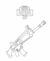 Rifle Scar Fortnite Coloring Page Free Printable Coloring Pages