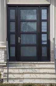 modern front doors in black