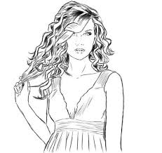 Small Picture Taylor Swift is so Amazing Coloring Page Color Luna