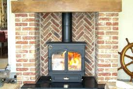 convert wood burning fireplace to gas fireplaces with wood burning stoves stove in a brick herringbone