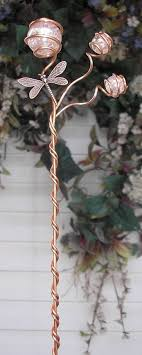 dragonfly garden stakes. Great Dragonfly Garden Decor Plant Stake Glass Copper Yard Art Lawn Ornament Stakes