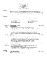 sample product manager resume sample product manager resumes template  template sample resume for manager sample resume . sample product manager  resume ...