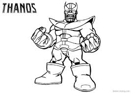 Thanos Coloring Pages From Marvel Avengers Free Printable Coloring