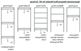 Standard Closet Rod Height