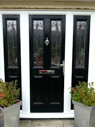 1930s door in the devonshire style with margin glazing in grey stained glass front doors reclaimed