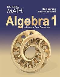 big ideas math algebra 1 common core