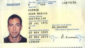 Biodata Passport Australia Certificate Birth Citizenship پاسپورت Page