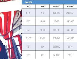 Thorough Hockey Gloves Sizing Chart Football Size Chart