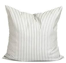 Ticking Stripe Pillow Covers