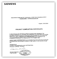 Project Completion Certificate From Company Corto