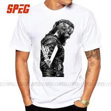 Ragnar T Shirt Design Us 10 8 40 Off T Shirts King Ragnar Lothbrok Vikings Man Organnic 100 Cotton Short Sleeve Tee Shirts Hot Round Collar Man T Shirt Design In