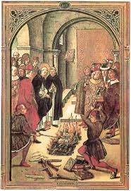 Image result for book burning pictures medieval