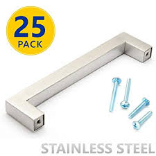 drawer pulls 25 inch hole spacing. Simple Drawer Brahmco 2105  25 Pack Stainless Steel Square Bar Cabinet Pulls 5 Inch To Drawer Pulls Inch Hole Spacing Amazoncom