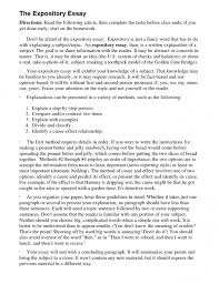 good paragraph essay topics expository compare and contrast 22 cover letter template for example of a good expository essay 21 remarkable resume