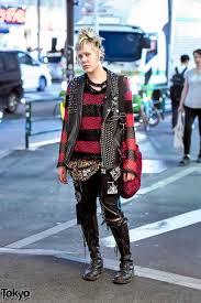 harajuku punk in dis studded leather vest patched denim dr martens leopard print