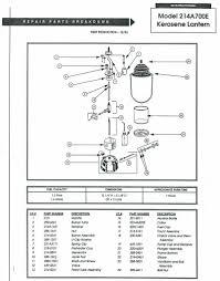 coleman table lamp parts