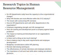 what are some good research title and topic in human resource quora i ve looked for human resources topics for research paper and this is what i found you can click the link to see more