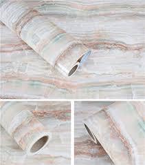 waterproof marble granite look contact paper kitchen countertop backsplash table self adhesive vinyl shelf liner 24 by 196 inches