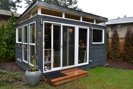 Small Picture The Combs family opted for two Modern Sheds including this 12 by