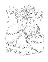 Disney Princess Christmas Coloring Pages Getcoloringpagescom