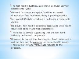 muet essay should fast food be ban completely 4 the fast food