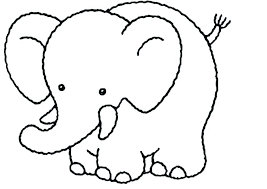Gorgeous Ideas Elephant Color Page Coloring Cute Pages Pictures To