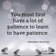 stanislaw jerzy lec quotes collected quotes from stanislaw jerzy  you must first have a lot of patience to learn to have patience