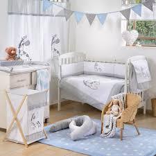 gray giraffe 4 piece crib bedding set