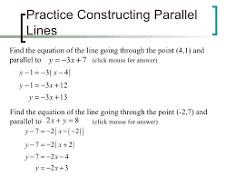 56 slopes of parallel and perpendicular lines worksheet writing equations