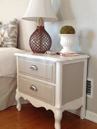Painting Bedroom Furniture Before And After Two It Yourself Refinished Nightstand In Diy Chalk Paint Before