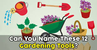 can you name these 12 gardening tools