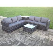 6 seater rattan garden corner sofa set