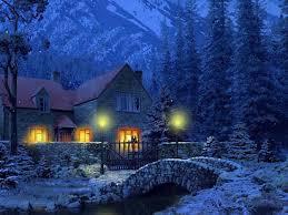 Snow village screensaver 4k uhd. Free 3d Snowy Cottage Animated Wallpaper