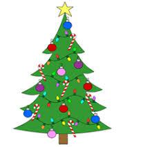 Cartoon Christmas tree drawing