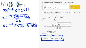 solve quadratic equations with the quadratic formula