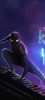 1125x2436 Black Spider Man Suit 4k ...