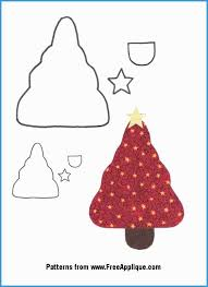 Free Christmas Tree Template Free Christmas Applique Templates Amazing Christmas Patterns For