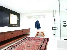 modern bathroom makeover in love with it all for rug rugs mid century