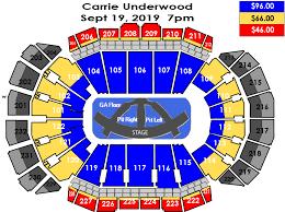Sprint Center Detailed Seating Chart Carrie Underwood Sprint Center