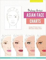 Makeup Charts Free Amazon Com Makeup Artist Asian Face Charts The Beauty