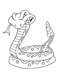 Small Picture Rattlesnake Coloring Pages Free Printable Snake Coloring Pages For