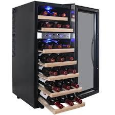 Akdy Dual Zone 21 Bottle Freestanding Wine Cooler In Edgestar Wine Cooler  Reviews
