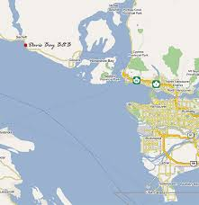 map of bc ferries davis bay bed and breakfast oceanfront b&b Bc Ferries Map map of bc ferries bc ferry map